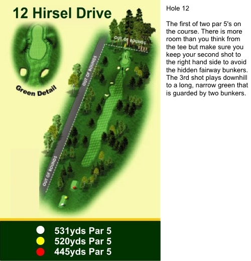 Hole 12 Hirsel Drive