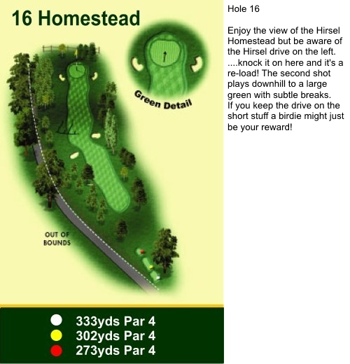 Hole 16 Homestead