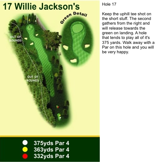 Hole 17 Willie Jackson's